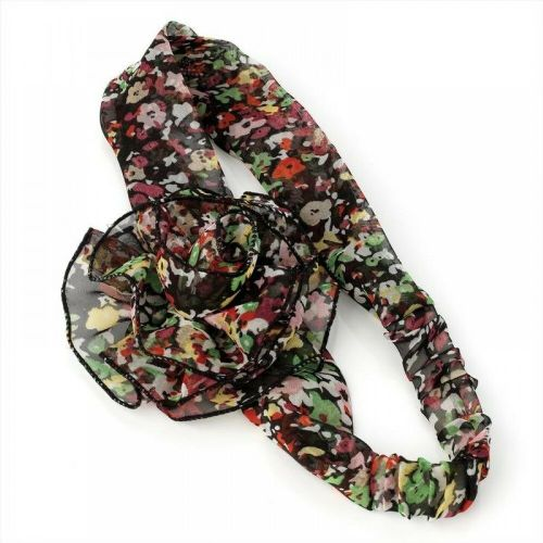 Flower Motif Floral Print Hair Wrap Headband